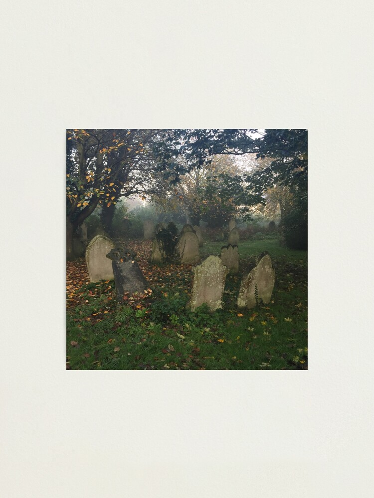Alternate view of Misty graveyard Photographic Print