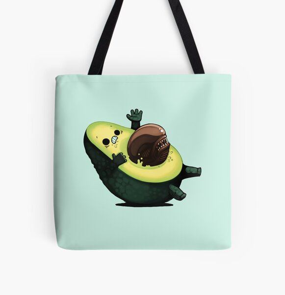 Avocalien All Over Print Tote Bag