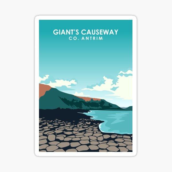 Giant's Causeway Northern Ireland Travel Poster Sticker