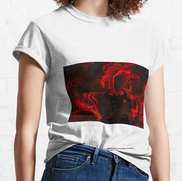 Demon of Hell - Procreate Acrylic Pour Classic T-Shirt