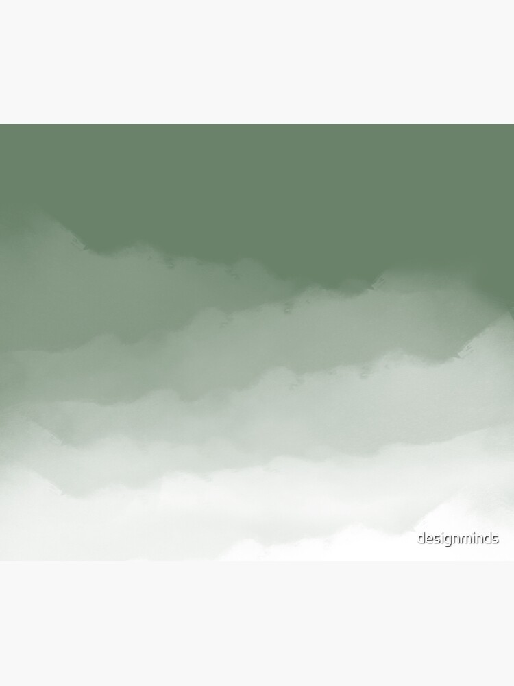Sage Green Watercolor Ombre (sage green/white) by designminds