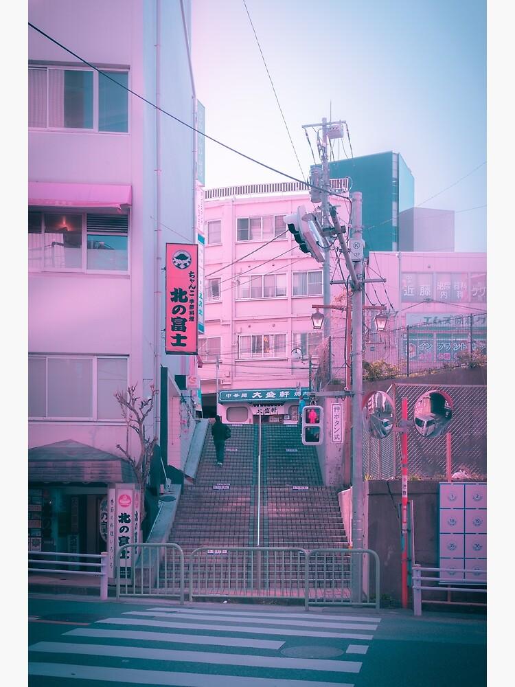 Vaporwave Aesthetic Tokyo Pink Japan Citypop lofi moody vibe by TokyoLuv