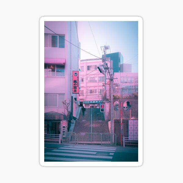 Vaporwave Aesthetic Tokyo Pink Japan Citypop lofi moody vibe Sticker