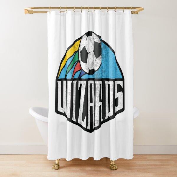 Wizards Warn Texture Shower Curtain