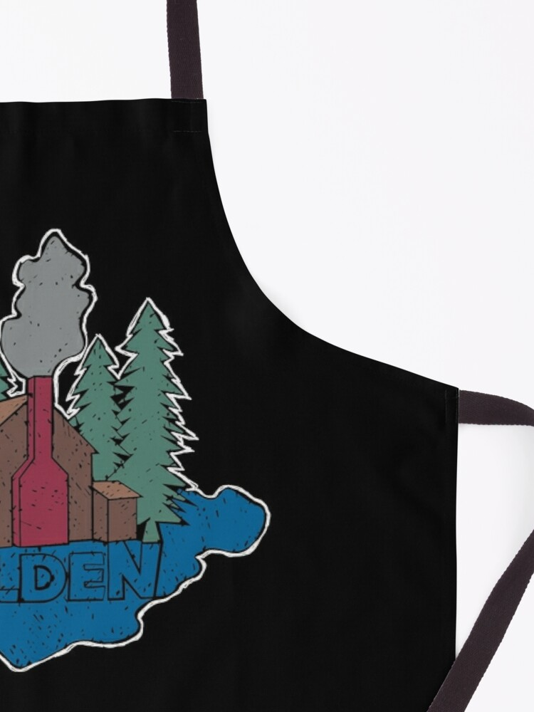 Alternate view of Walden - Henry David Thoreau (Coloured textured version) Apron