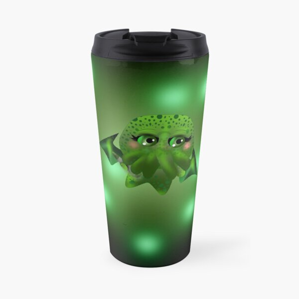 This is Chibi Cthulhu the crayon destroyer of souls Travel Mug