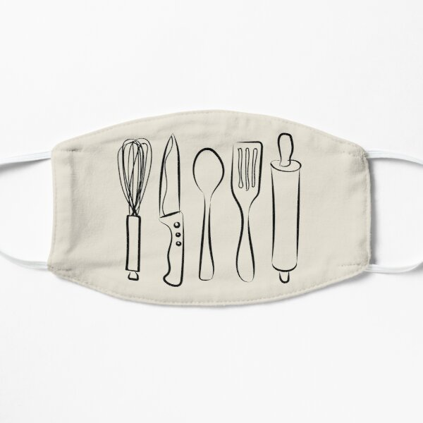 cooking utensils Flat Mask