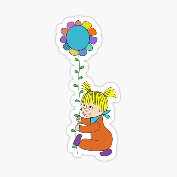 Eine Blume für Freunde Sticker