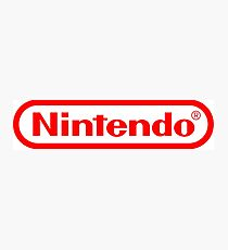 Nintendo logo HQ Photographic Print