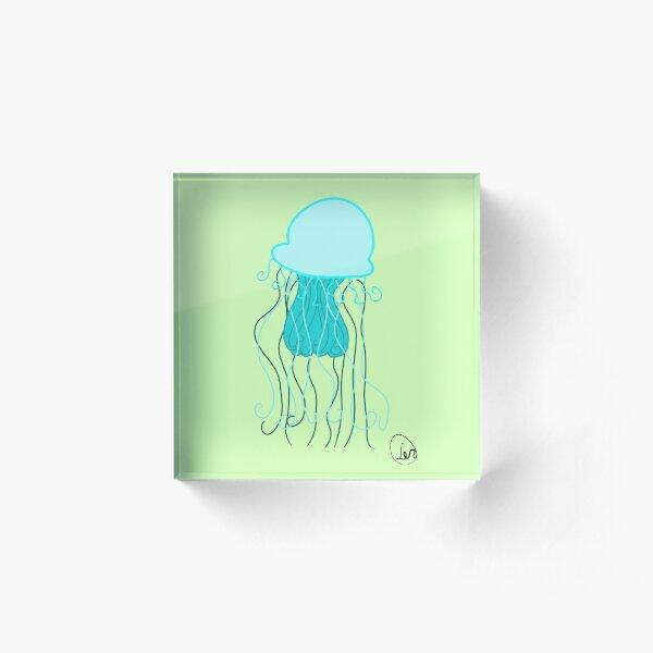 Blue Jellyfish Acrylic Block