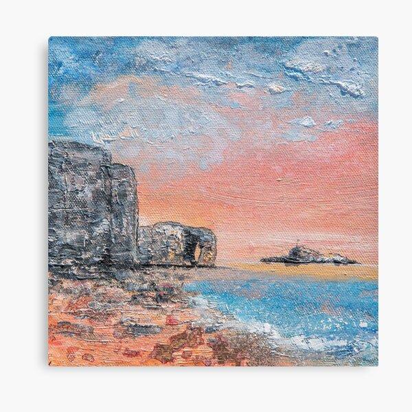 Perranporth Sunset, Cornwall Art Canvas Print