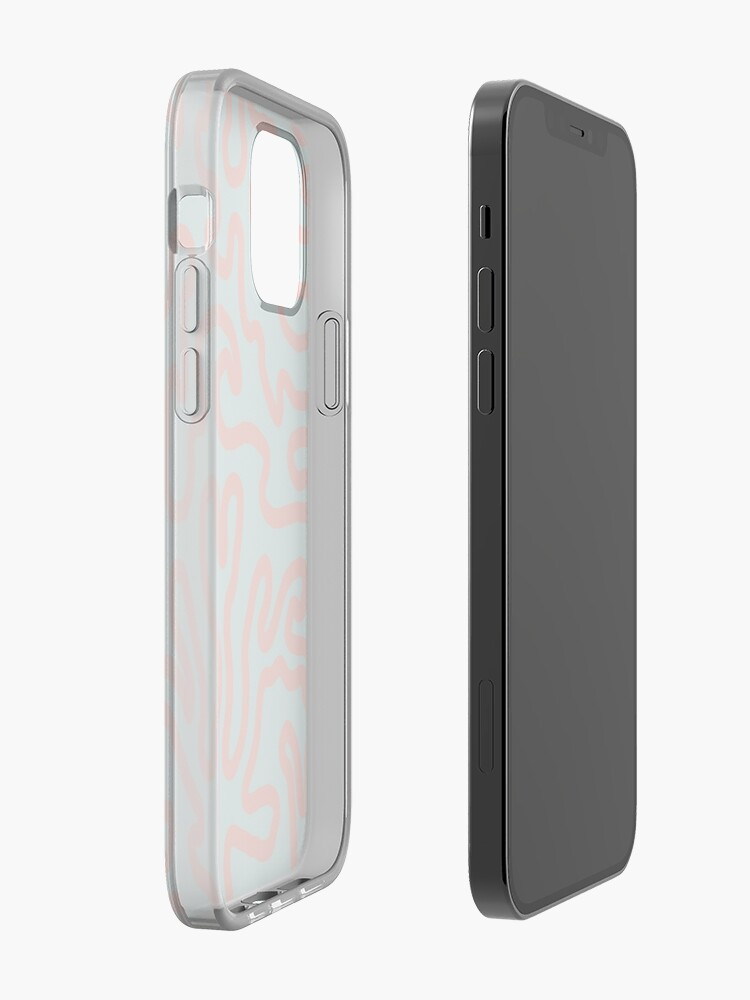 Alternate view of Coral lines pattern illustration iPhone Case & Cover