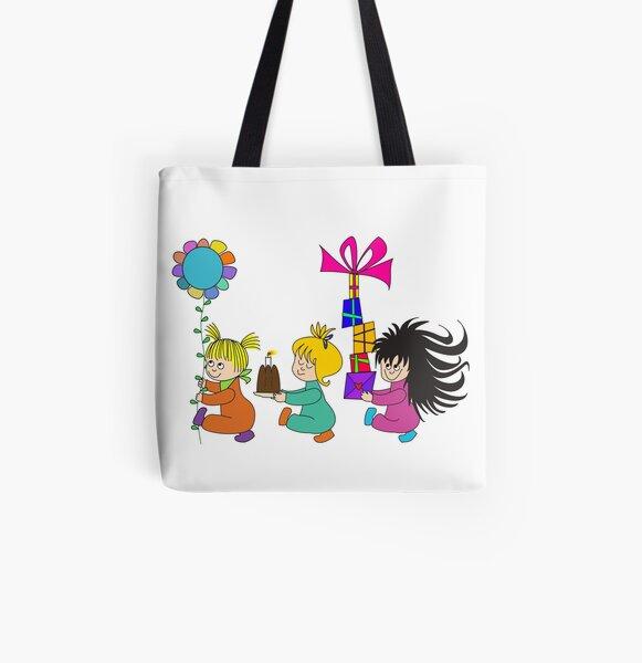 Kindergeburtstag weiß Allover-Print Tote Bag