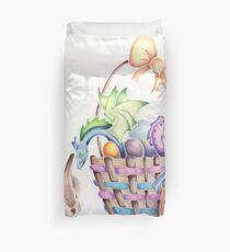 A basket of Easter Dragons Duvet Cover