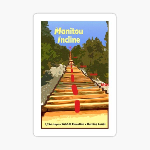 Manitou Incline Hike Artwork Sticker