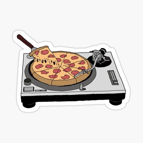 Pizza Record Sticker
