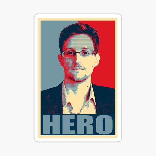 Póster Edward Snowden Hero Pegatina
