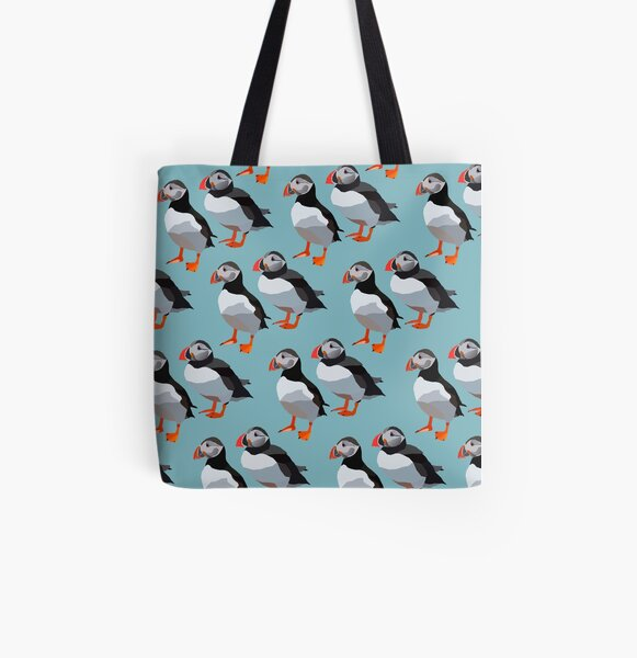 Puffin pairs All Over Print Tote Bag