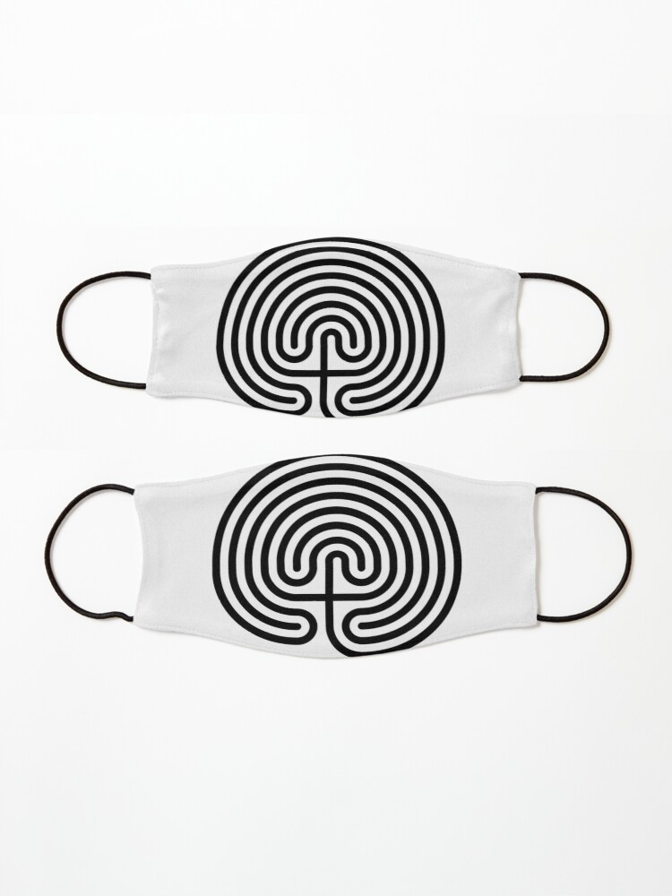 Alternate view of #Cretan, #labyrinth, Cretanlabyrinth Mask