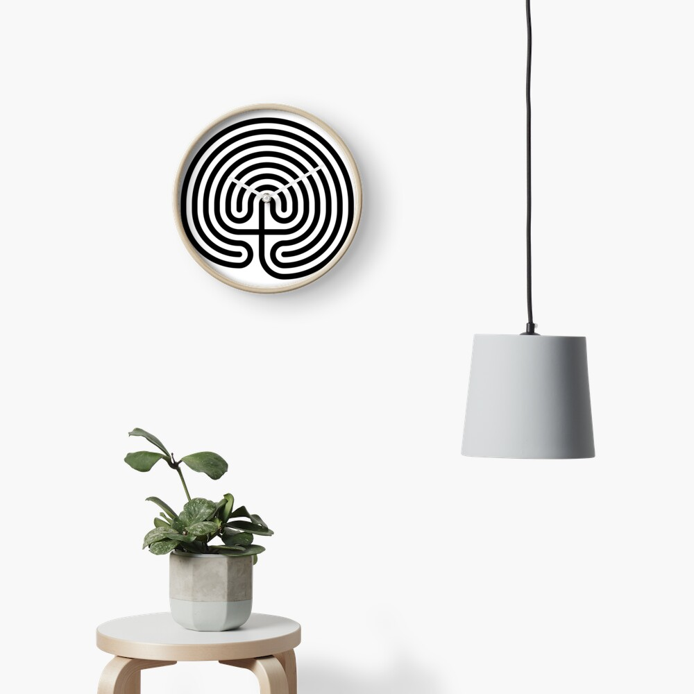 #Cretan, #labyrinth, Cretanlabyrinth Clock