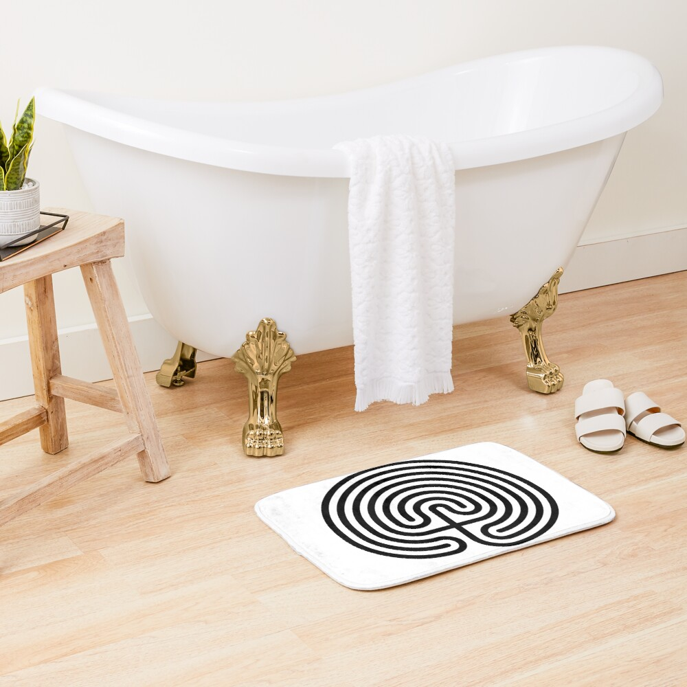 #Cretan, #labyrinth, Cretanlabyrinth Bath Mat