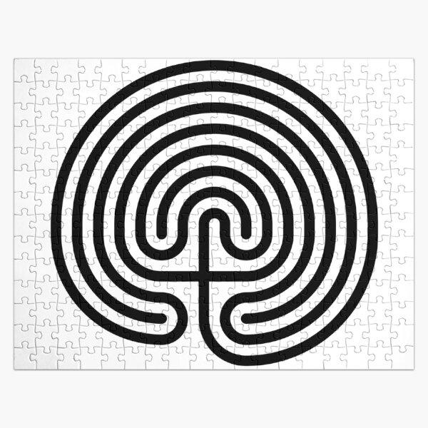 #Cretan, #labyrinth, Cretanlabyrinth Jigsaw Puzzle