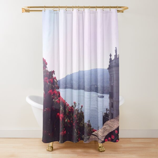 roses garden Italy Photography Shower Curtain