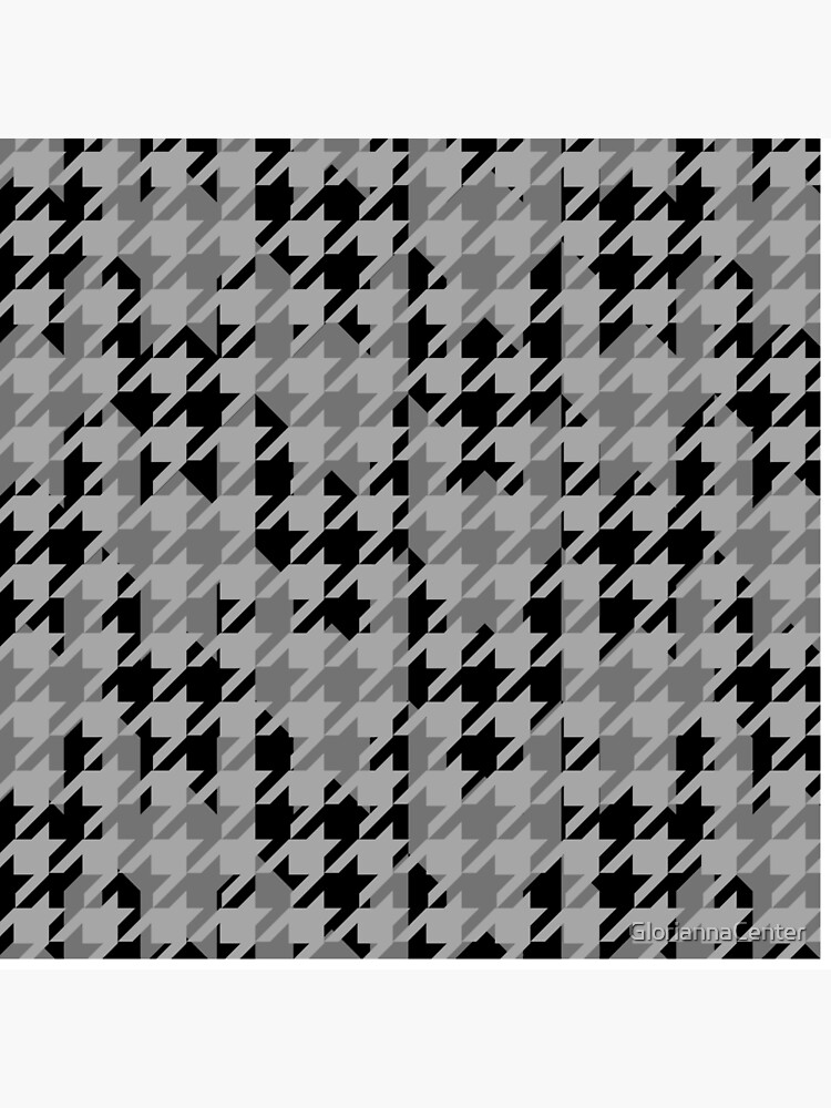 Double houndstooth pattern in grey and black combo by GloriannaCenter