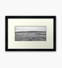 fishing boats on a lake in switzerland Framed Print