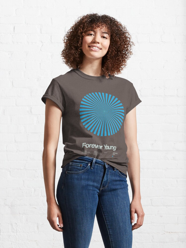 Alternate view of Alphaville - Forever Young - 1984 - New Wave Song Swiss Design Series Classic T-Shirt