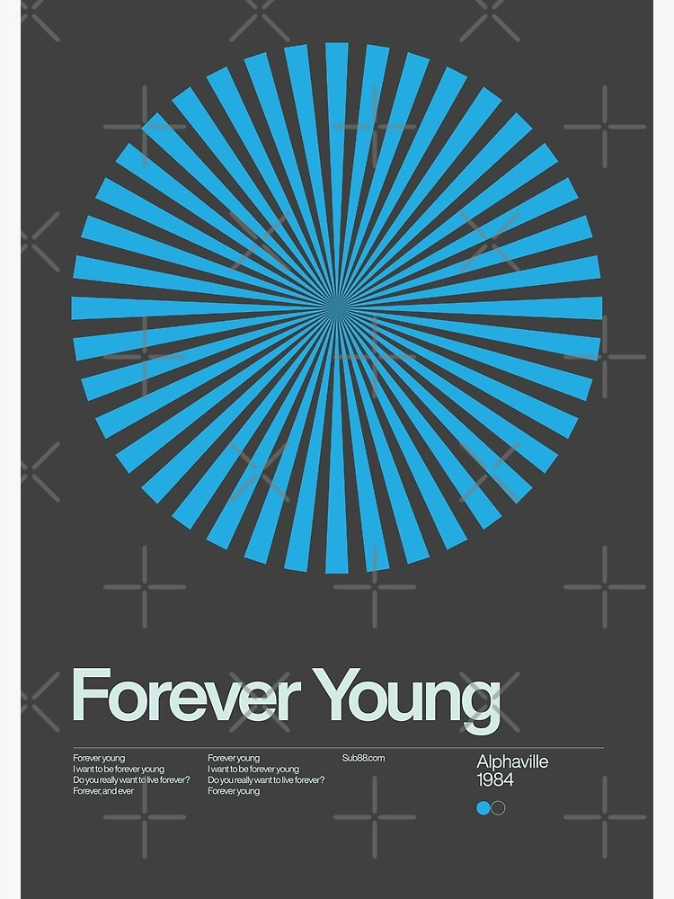 Alphaville - Forever Young - 1984 - New Wave Song Swiss Design Series by sub88