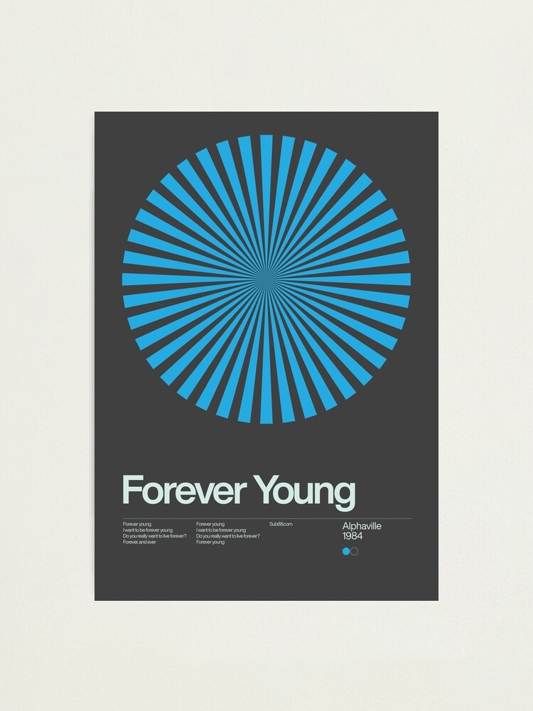 Alternate view of Alphaville - Forever Young - 1984 - New Wave Song Swiss Design Series Photographic Print
