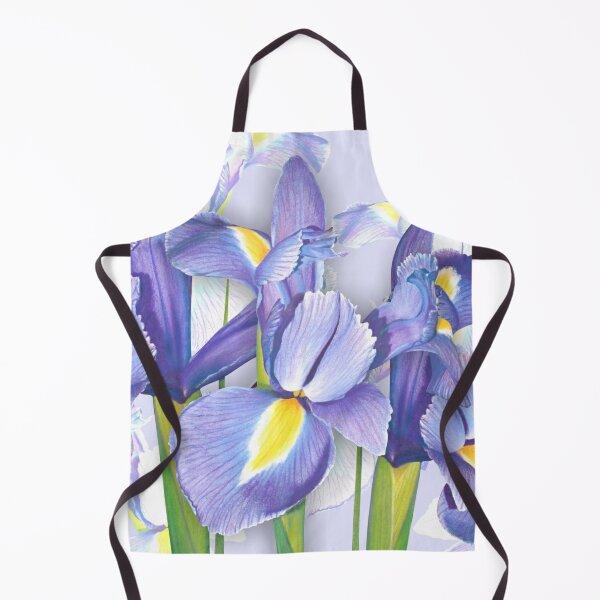 Springtime Irises Apron