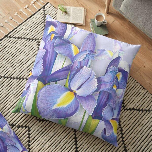 Springtime Irises Floor Pillow