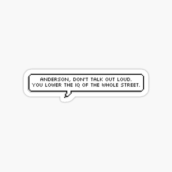 Sherlock Quote Pixel Text Sticker