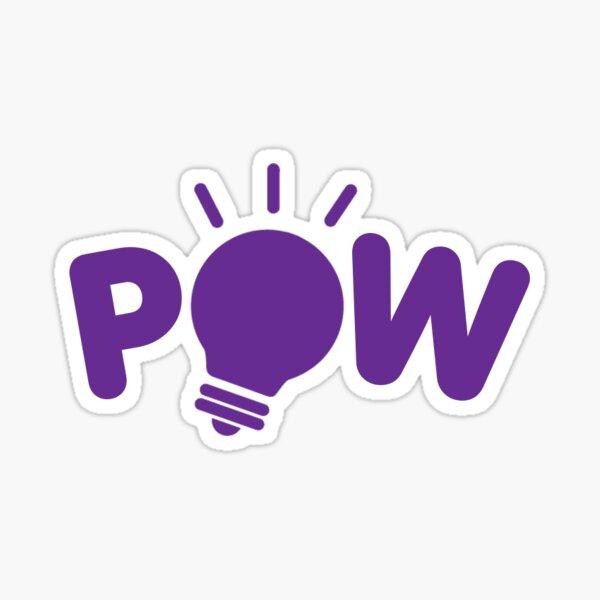POW Purple Logo Sticker