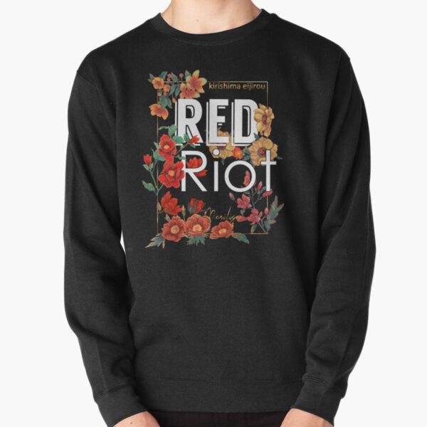 Émeute rouge - floral Sweatshirt épais