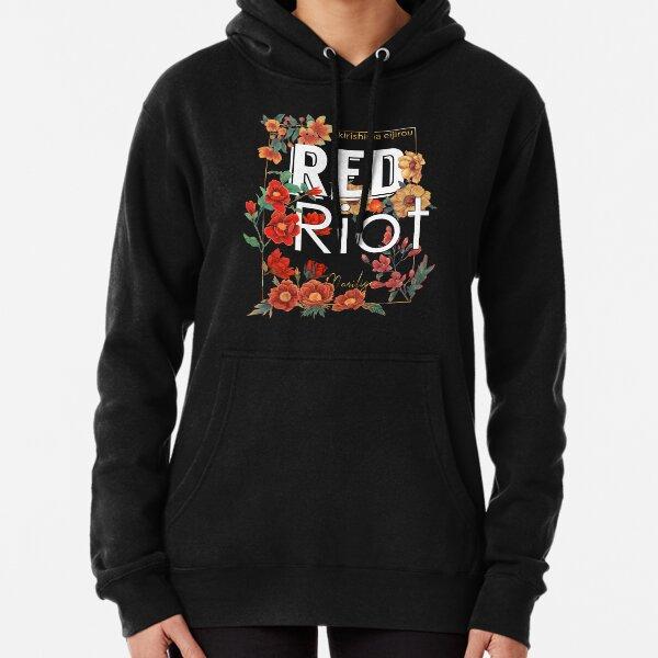 Roter Aufstand - blumig Hoodie