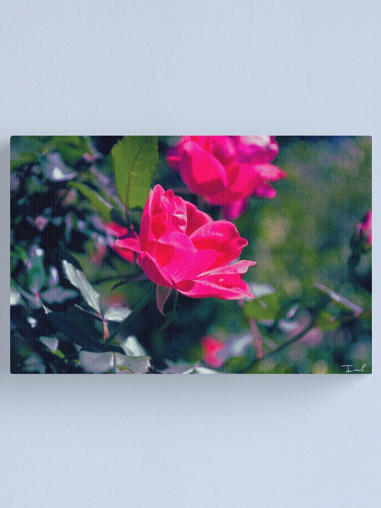 Alternate view of Roses and Leaves Canvas Print