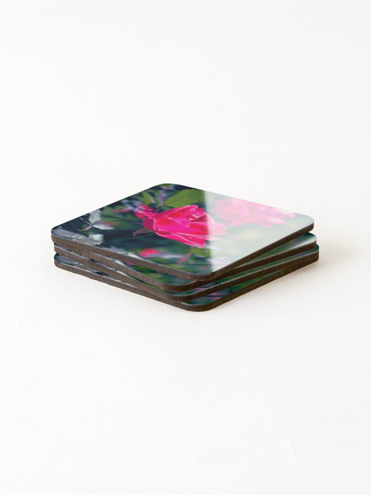 Alternate view of Roses and Leaves Coasters (Set of 4)
