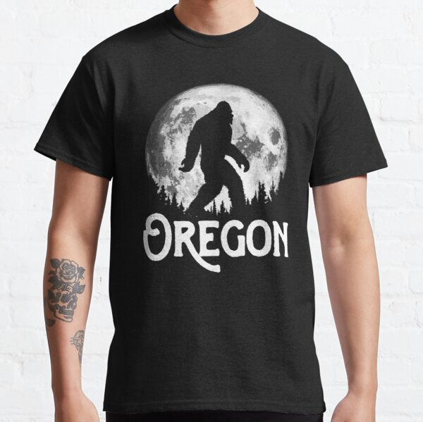 Oregon Bigfoot at Night Cool Full Moon & Trees Sasquatch Classic T-Shirt