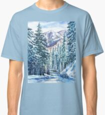 Winter Forest And Mountains Classic T-Shirt