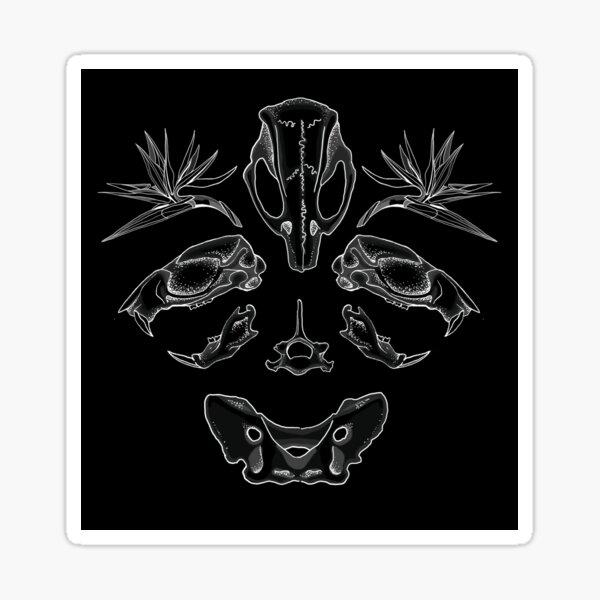 Skull Symmetry Inverted Sticker