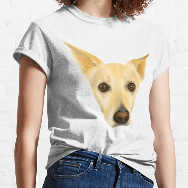 Super Cute White Dog Portrait Classic T-Shirt