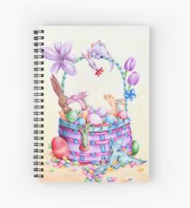 Candy and Dragon Easter Basket  Spiral Notebook