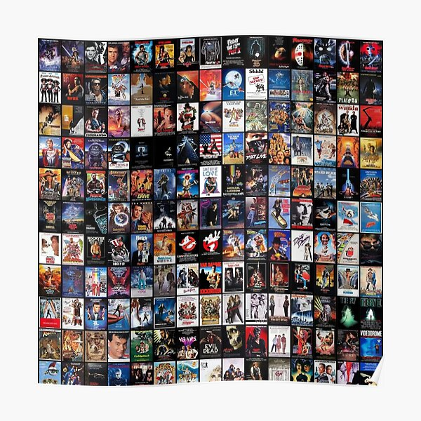80's movies collage   the best of the best  Poster
