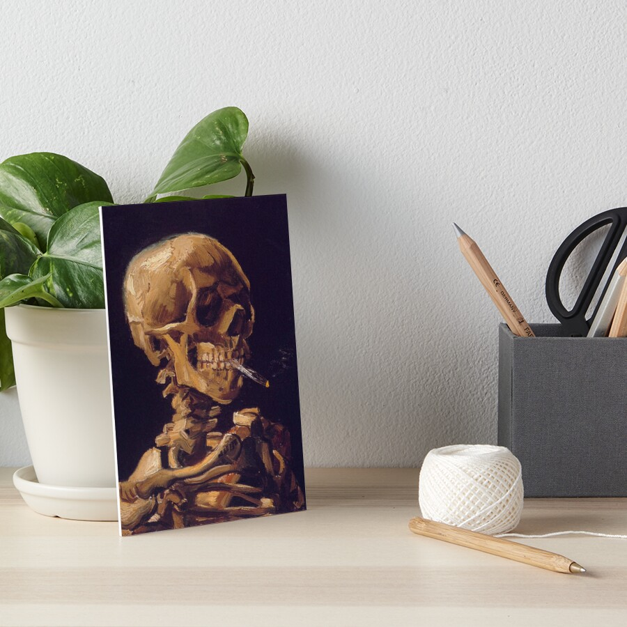 Vincent Van Gogh's 'Skull with a Burning Cigarette'  Art Board Print