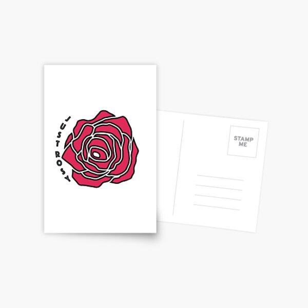 Just Rosy Postcard