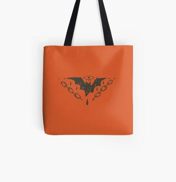 Bleeding Bat All Over Print Tote Bag