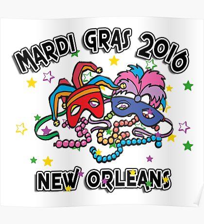 2016 Mardi Gras New Orleans 2016 NOLA Poster